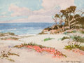 Works on Paper, ALBERT THOMAS DEROME (American, 1885-1959). Monterey Sand Pine; Asilomar Dunes (a pair). Watercolor on paper. 4 x 5 inch... (Total: 2 Items)