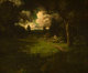 WILLIAM KEITH (American, 1839-1911) Cottage in a Sunlit Clearing Oil on canvas 25 x 30 inches (63.5 x 76.2 cm) Signe...