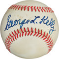 Autographs:Baseballs, 1970's George Kelly Single Signed Baseball, PSA/DNA EX-MT 6....