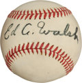 Autographs:Baseballs, Circa 1950 Ed Walsh Single Signed Baseball, PSA/DNA NM 7....