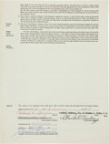 Baseball Collectibles:Others, 1972 Rollie Fingers Signed Oakland Athletics Player's Contract....