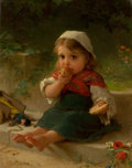Paintings, EMILE MUNIER (French, 1810-1895). Portrait of a Child, 1880. Oil on canvas. 14 x 11 inches (35.6 x 27.9 cm). Signed and ...