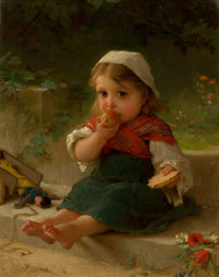 EMILE MUNIER (French, 1810-1895) Portrait of a Child, 1880 Oil on canvas 14 x 11 inches (35.6 x 2