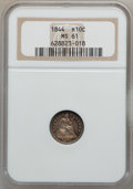 Seated Half Dimes: , 1844 H10C MS61 NGC. NGC Census: (9/124). PCGS Population (1/106).Mintage: 430,000. Numismedia Wsl. Price for problem free ...