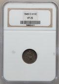 Seated Half Dimes: , 1849-O H10C VF25 NGC. NGC Census: (2/43). PCGS Population (3/44).Mintage: 140,000. Numismedia Wsl. Price for problem free ...