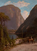 Paintings, GEORGE L. CLOUGH (American, 1824-1901). Delaware Water Gap. Oil on canvas. 37-1/2 x 27-1/2 inches (95.3 x 69.9 cm). Sign...