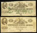 Confederate Notes:1862 Issues, T42 $2 1862;. T43 $2 1862.. ... (Total: 2 notes)