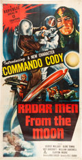Memorabilia:Poster, Radar Men From the Moon Serial Three Sheet Poster (Republic,1952)....