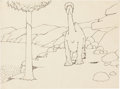 animation art:Production Cel, Winsor McCay Gertie the Dinosaur Animation Drawing Original Art (1914)....