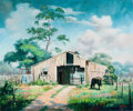 Texas:Early Texas Art - Regionalists, DALHART WINDBERG (American, b. 1933). Old Barn. Oil oncanvas. 20 x 24 inches (50.8 x 61.0 cm). Signed lower right:Wi... (Total: 2 Items)