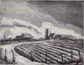 Texas:Early Texas Art - Regionalists, BLANCHE MCVEIGH (American, 1895-1970). Furrows and Skyline, FortWorth (pair). Etchings with drypoint and aquatint on pa...(Total: 2 Items)