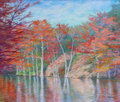 Texas:Early Texas Art - Regionalists, MICHAEL ETIE (American, b. 1948). Fall on the Frio River.Pastel on board. 20 x 24 inches (50.8 x 61.0 cm). Signed lower...