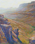 Works on Paper, MICHAEL ETIE (American, b. 1948). Juniper Canyon, Big Bend. Pastel on board. 22 x 18 inches (55.9 x 45.7 cm). Signed low...