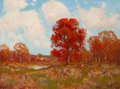 Paintings, JULIAN ONDERDONK (American, 1882-1922). Fall Landscape. Oil on board. 9 x 12 inches (22.9 x 30.5 cm). Signed lower left:...