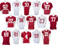Football Collectibles:Uniforms, 1990's Alabama Tide Game-Worn Jersey With Bowl Game Examples - Lot of 16 Some Signed....