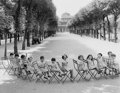 Photographs:20th Century, ROBERT DOISNEAU (French, 1912-1994). Enfants dans le Jardin duPalais-Royal, circa 1950. Gelatin silver, printed later. ...