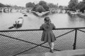 Photographs:20th Century, EDOUARD BOUBAT (French, 1923-1999). Paris, Pont des Arts,1954. Gelatin silver, printed later. 9-1/2 x 14-1/2 inches (24...