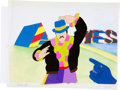 "Music Memorabilia:Original Art, Beatles Yellow Submarine ""John Wearing Blue Hat"" AnimationProduction Cel Original Art (United Artists/King Featur... (Total:2 Items)"