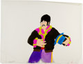 Music Memorabilia:Original Art, Beatles Yellow Submarine John with Blue Hat AnimationProduction Cel Original Art (United Artists/King Features, 1...