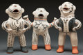 American Indian Art:Pottery, THREE COCHITI POLYCHROME FIGURES. Martha Arquero. c. 2005. ...(Total: 3 Items)
