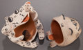 American Indian Art:Pottery, TWO COCHITI POLYCHROME POTTERY FIGURES . Snowflake Flower andJosephine Arquero ... (Total: 2 Items)