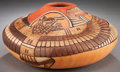 American Indian Art:Pottery, A HOPI CARVED POLYCHROME JAR. Thomas Polacca. c. 2005...