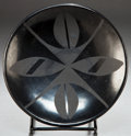 American Indian Art:Pottery, A SAN ILDEFONSO BLACKWARE PLATE. Marie and Santana Martinez. c.1955. ...