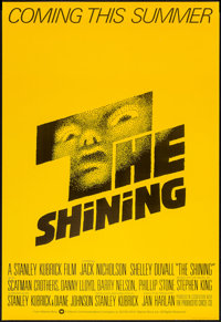 "The Shining (Warner Brothers, 1980). British One Sheet (27"" X 40"") Advance. Horror"
