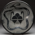 American Indian Art:Pottery, A SANTA CLARA BLACKWARE PLATE. Margaret Tafoya. c. 1945...