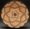 American Indian Art:Baskets, AN APACHE COILED TRAY. c. 1920...