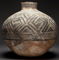 American Indian Art:Pottery, AN ANASAZI BLACK-ON-WHITE STORAGE JAR. c. 1100 A. D....