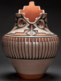 American Indian Art:Pottery, A SAN ILDEFONSO POLYCHROME JAR. Carlos and Carmelita Dunlap. c.1978...