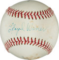 Autographs:Baseballs, Circa 1970 Lloyd Waner Single Signed Baseball, PSA/DNA EX+ 5.5....