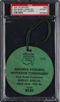 Golf Collectibles:Miscellaneous, 1935 The Masters Final Round Spectator's Badge....