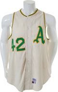 Baseball Collectibles:Uniforms, 1969 Hank Bauer Game Worn Oakland Athletics Jersey....