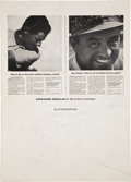Autographs:Bats, 1959 Legends of Sports Multi-Signed Program with JackieRobinson....