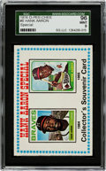 Baseball Cards:Singles (1970-Now), 1974 O-Pee-Chee Hank Aaron Special #6 SGC 96 Mint 9 - The FinestSGC Example!...