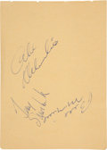 Hockey Collectibles:Others, 1960's Hockey Greats Signed Autograph Album Pages - With Terry Sawchuk....