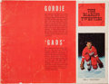Hockey Collectibles:Publications, 1965-66 Detroit Red Wings Team Signed Yearbook....