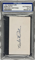 Autographs:Others, 1920's Babe Ruth Signed Blank Business Card....