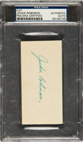 Baseball Collectibles:Others, 1960's Jackie Robinson Signed Cut Signature....
