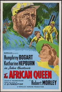 "The African Queen (Romulus, R-1950s). British One Sheet (27"" X 40.5""). Adventure"