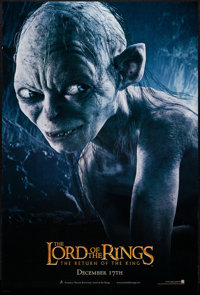 """The Lord of the Rings: The Return of the King (New Line, 2003). One Sheet (26.75"""" X 40"""") DS Advance. Gollum St..."""