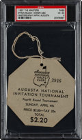Golf Collectibles:Miscellaneous, 1937 The Masters Fourth Round Spectator's Badge....