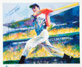 Baseball Collectibles:Others, 1998 Joe DiMaggio and Babe Ruth LeRoy Neiman Lithographs Lot of2....