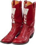 Football Collectibles:Others, Circa 1970's Elroy Hirsch Personally Worn University of Wisconsin Boots....