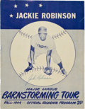 Autographs:Others, 1949 Jackie Robinson, Roy Campanella Signed Barnstorming Program....
