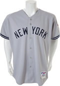 Baseball Collectibles:Uniforms, 2003 Mariano Rivera Game Worn New York Yankees World SeriesJersey....
