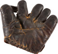 Baseball Collectibles:Others, Early 1930's Tony Lazzeri Game Worn Fielder's Glove--Gift from BabeRuth!...
