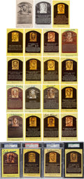 Baseball Collectibles:Others, 1939-2003 Signed Hall of Fame Postcards Lot of 231. ...